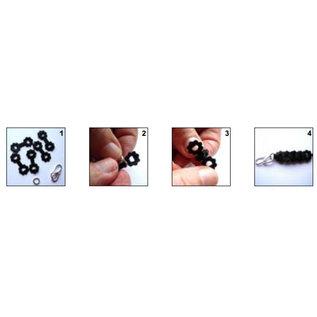 Set pons- en embossingsjablonen, 7-delig, voor het ontwerpen van sieraden