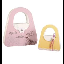 Box handbag FSC Recycled 100%, 10x11.5x4cm