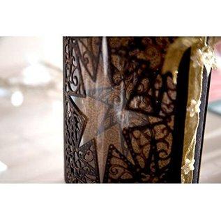 Die'sire Ponsen en embossing sjablonen: A6 frame met ster