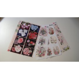 Marianne Design Set mit 4 Bilderbogen, in A4 Format