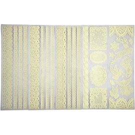 Craft Consortium Rub On Transfer SET, lace motifs, cream color, 5 sheets!