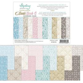 Mintay und Ciao Bella Bloc de base, motifs de fond et de carte, damassé, 15,2 x 20,3 cm, 240 g/m²