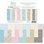 Mintay und Ciao Bella Basic Designerblock, Hintergrund- und Kartenmotive, Damaske, 15,2 x 20,3 cm, 240 gsm