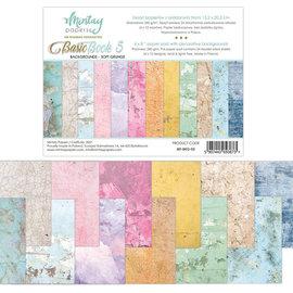 Mintay und Ciao Bella Basisdesignblok, achtergrond- en kaartmotieven, grunge, 15,2 x 20,3 cm, 240 gsm