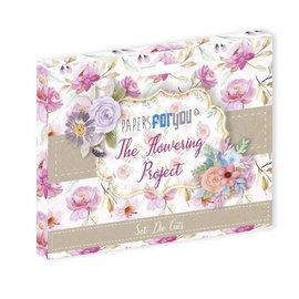 Mintay und Ciao Bella Papier cartonné 48 fleurs, embellissements, 240 g/m²