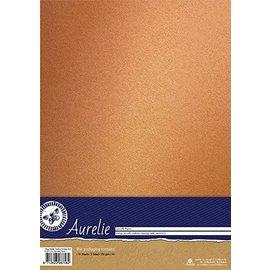 AURELIE Cardstock, Mettalic, nostalgic gold,  10 Blatt, einseitig  250 gr./m²
