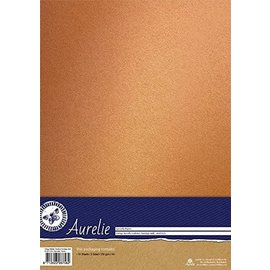 AURELIE Cardstock, Mettalic, nostalgisch goud, 10 vellen, enkelzijdig 250 g/m²