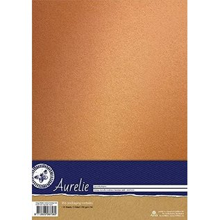 AURELIE Cardstock, Mettalic, nostalgic gold, 10 sheets, one-sided 250 g / m²