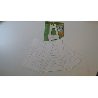 Bastelset, Kartenständer, 3 Stück, aus Cardstock, Creme Farbe, Ideal für Karten und Bilder!