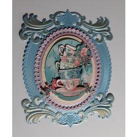 Marianne Design Ponssjabloonset, sierlijst, 5-delig, 106 x 131 mm