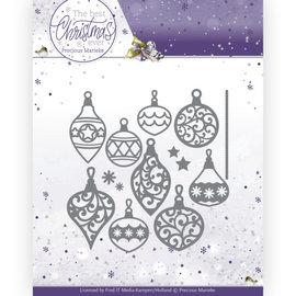 Snijsjablonen, amy design, Kerstmis, 8 kerstballen