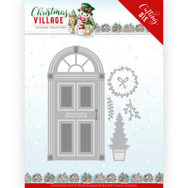 Yvonne Creations Cutting templates, door, Christmas