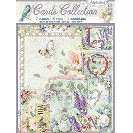 Karten Kollektion Set, 7 Karten Motive, 5 Tags, 1 Bookmark, 250 gsm, doppelseitig bedruckt