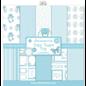 Designer Papier Scrapbooking: 30,5 x 30,5 cm Papier Designpapier, 10 vellen, aan beide zijden bedrukt, babyjongen