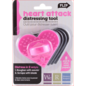Distressing Werkzeug in Herzform + 3 Ersatz Distress sand Papers