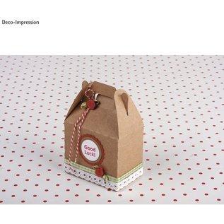 2 geschenkdozen met handvatten, 7,1 x 4 cm en 3 x 4,2 cm,
