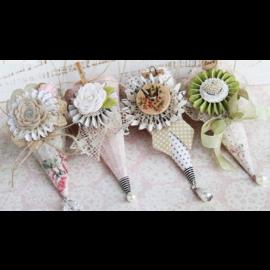Komplett Sets / Kits Kegel met handvat, H: 13 cm, 20 stuks + 4 EXTRA!