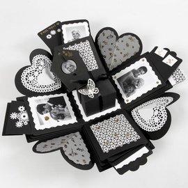 BASTELSETS / CRAFT KITS Coffret cadeau de 35 pièces, format boite explosion : 7x7x7,5 + 12x12x12 cm