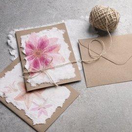 BASTELSETS / CRAFT KITS Papirmasse + rammeform for produksjon av håndlaget papir 100 g = 20-25 ark laget papir i A5-format