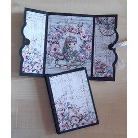 Set de papier, 15,5 x 15,5 cm, Dreamgarden, 24 feuilles ! imprimé recto-verso, 190 g/m²