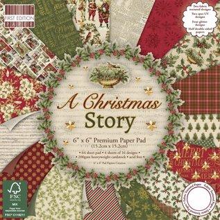 Karten und Scrapbooking Papier, Papier blöcke Papieren designblok, kerst, 15,2x15,2cm, 200 g/m2, 64 vellen!