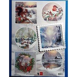 Marianne Design Hoja de cuadros, A4, motivos invernales