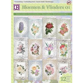 BASTELSETS / CRAFT KITS Card craft set for the design of 12 beautiful cards, for various occasions