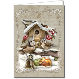BASTELSETS / CRAFT KITS Juego de manualidades para el diseño de 8 maravillosas e idílicas tarjetas navideñas e invernales.
