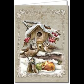 BASTELSETS / CRAFT KITS Korthåndværkssæt til design af 8 vidunderlige, idylliske vinter- og julekort!