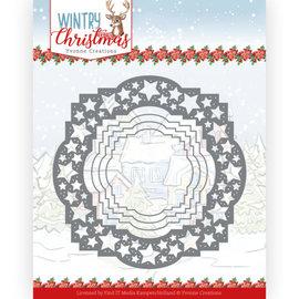 Yvonne Creations Hulning og prægning skabelon, vinter, jul, motiv med stjerner