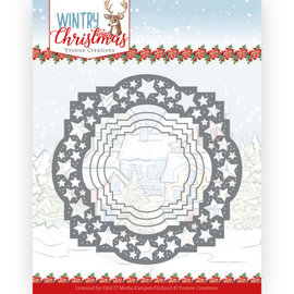 Yvonne Creations Punching and embossing template, winter, Christmas, motif with stars