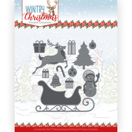 Yvonne Creations Punching and embossing stencil, winter, Christmas, many motifs