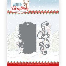 Yvonne Creations Pons- en embossingsjabloon, winter, kerst, label en sterren