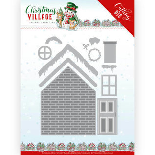 Yvonne Creations Punching and embossing template, winter, christmas, build a house