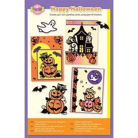 BASTELSETS / CRAFT KITS Juego de manualidades, Halloween, juego AS5 para diseñar 3 tarjetas.