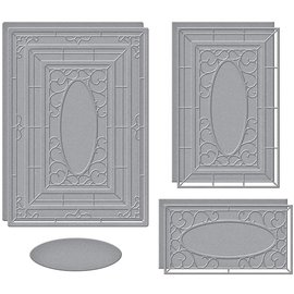 Punching stencils, spellbinders, Wistful Window, S6-171, paper crafts,