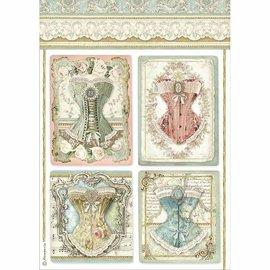 Stamperia Rice Papier, A4, Decoupage, Papierbasteln, Karten gestalten u.v.m.