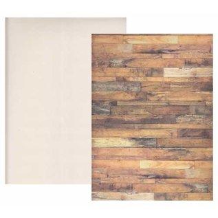1 kartonnen doos hout, 250 gsm, afmeting: 24 x 34 cm