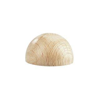 Ruwe houten halve bollen, niet geboord, 20mm ø