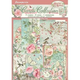 Karten Collection Set,  Houses of Roses, mit 13 Teilen aus 250gsm