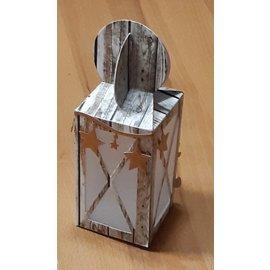 Craftemotions Stansmessen: lantaarn box-kaart-A5
