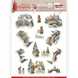 AMY DESIGN Stanzbogen in A4, 3D,  Nostalgic Christmas, Christmas Village,