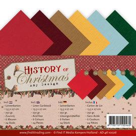 AMY DESIGN Linen cardstock paper set, 24 sheets, 13.5 x 27 cm.