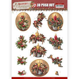 AMY DESIGN Die cut sheets in A4, 3D Christmas candles, Christmas arrangements,