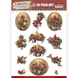 AMY DESIGN Stanzbogen in A4, 3D Weihnachtskerzen, Weihnachtsgestecke,