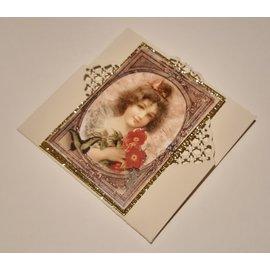 Precious Marieke Plantillas de perforación, Rosas románticas, Cuadrado de valla de rosas