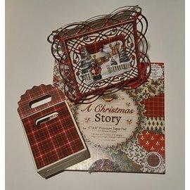 Karten und Scrapbooking Papier, Papier blöcke Paper designer pad, Christmas, 15.2x15.2cm, 200 g / m2, 64 sheets!