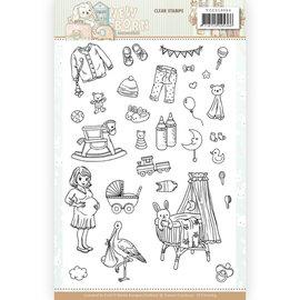 Yvonne Creations Motivos de sellos, motivos de bebés, sellos transparentes Formato: 14,8 x 21 cm