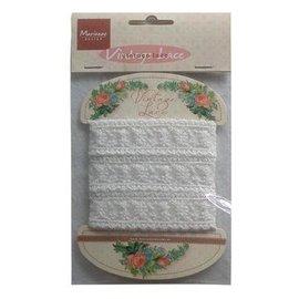 Marianne Design Vintage Lace, Spitze Dekoband,  weiß, 150 cm!