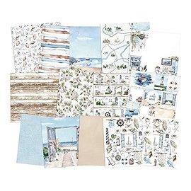 Karten und Scrapbooking Papier, Papier blöcke Designerblok, 15,2 x 15,2 cm, 24 vel, 240 g/m², Beyond the Sea